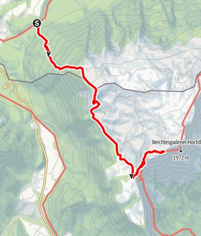 Karte / Stöhrhaus von Grossgmain-Bruchhäusl über Hirschangerkopf
