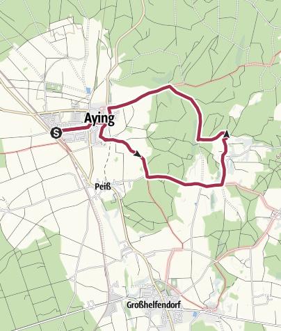 Karte / Aying-Kaltenbrunn-Graß-Aying-Rundwanderung