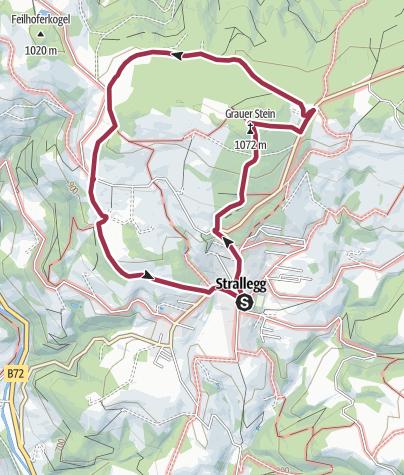 Karte / Grauer Stein - Kalter Brunnweg