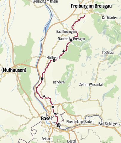 Karte / Markgräfler Wiiwegli