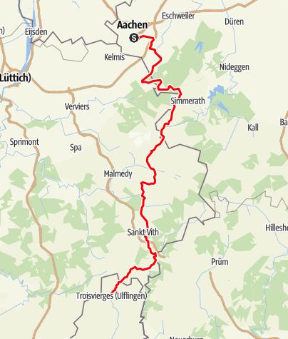 Kaart / Vennbahn - Aachen-Troisvierges