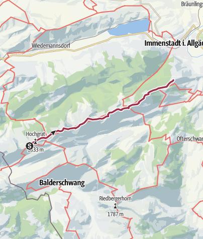 Karte / Tour 25: Über die Nagelfluhkette - eine Gratwanderung der Extraklasse