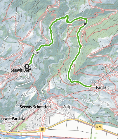 Map / From Seewis nach Fanas