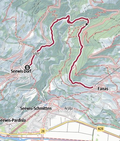 Karte / Von Seewis nach Fanas