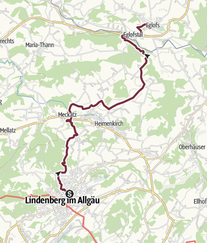 Map / Wandertrilogie Etappe 40 Lindenberg-Eglofs - Wasserläufer Route