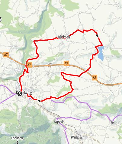Karte / Sieben Seen Radrunde