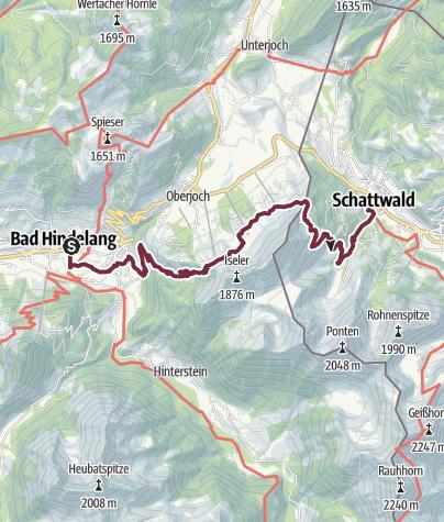 Map / Wandertrilogie Etappe 50 Bad Hindelang-Schattwald/Tannheimer Tal