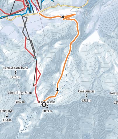 Cartina / Freeride al Passo del Tonale – Val di Sole