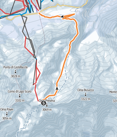 Map / Freeridingat Passo del Tonale