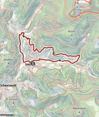 Karte / Seebach - Wasser-Mühlen-Technik-Weg