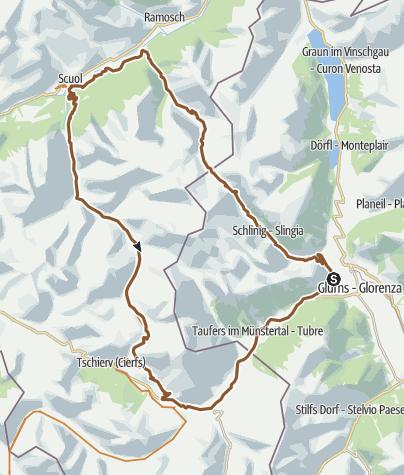מפה / Durchquerung der Uinaschlucht mit dem Mountainbike