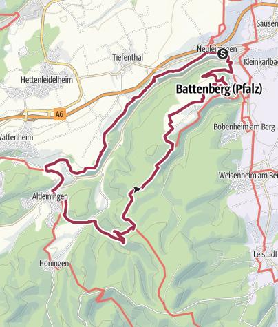 Karte / Leininger Burgenweg