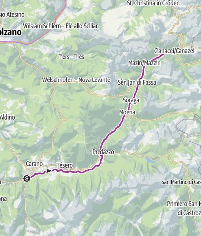 Cartina / Ciclabile delle Dolomiti di Fiemme e Fassa