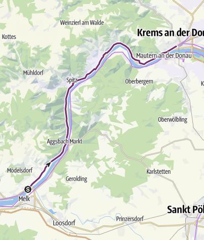 Wachau Karte Donau.Donauradweg Etappe 5 Nordufer Emmersdorf Krems Fernradweg