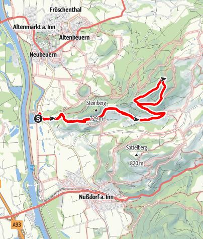 Karte / Auf den Dandlberg - vom Inntal in den Chiemgau