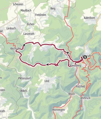 "Karte / Rundweg 1 ""Wanderparadies Sahrbachtal"""