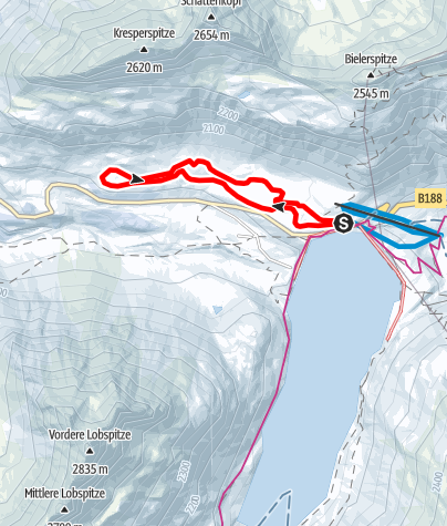 Karte / Nr. 5: Silvretta-Höhenloipe, groß (klassisch & skating)