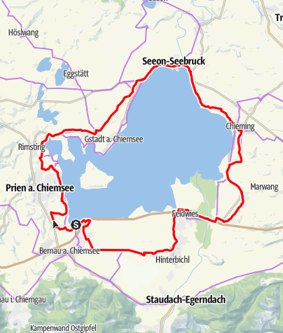 Karte / Chiemsee Radweg