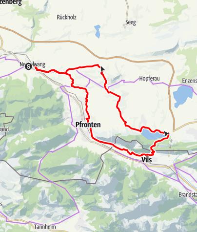 Karte / Drei Ruinen Radtour