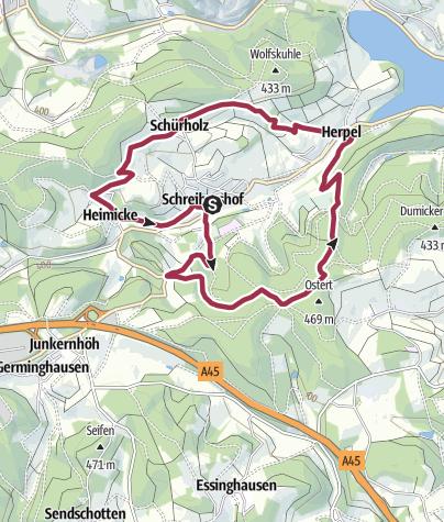 Karte / Drolshagen A3  Liebliche Wiesen und schattige Wälder
