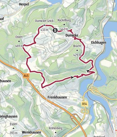 Karte / Drolshagen A4 Abwechslungsreich und erholsam