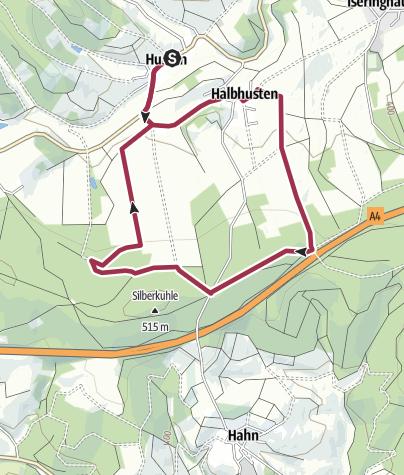 Karte / Drolshagen A7 Feld, Wald und Wiesen zum Genießen