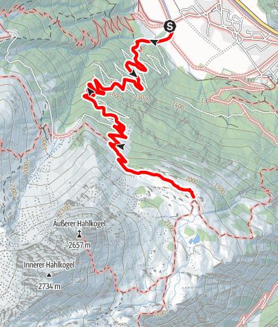 Karte / Hahlkoglhaus 2042m - Längenfeld