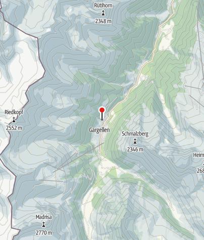 Karte / Ferienhaus Holzchalet Rungg Bühl