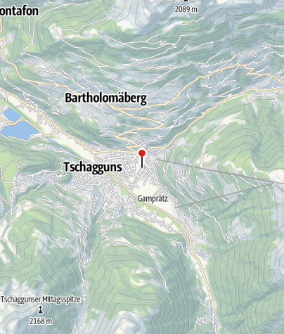 Karte / Haus Gavadura-Forschner