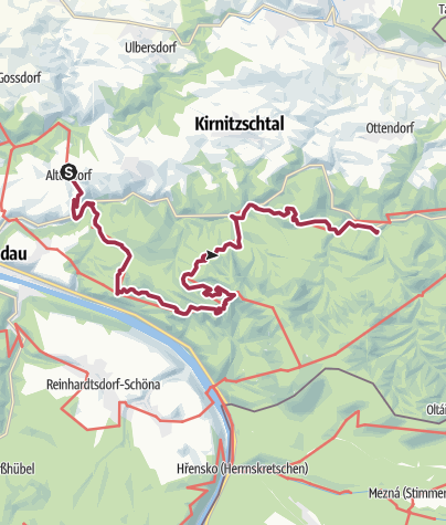 Karte / Malerweg, Etappe 4: Von Altendorf zur Neumannmühle