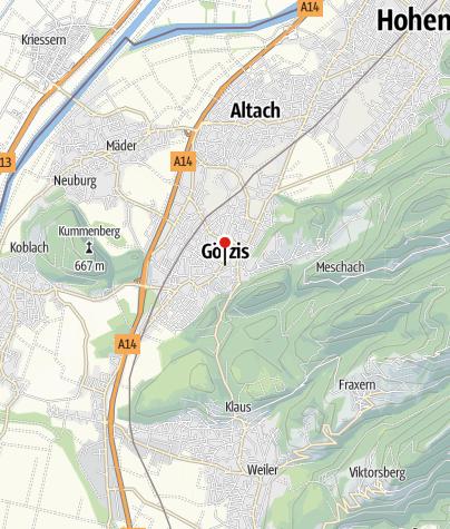 Karte / Götzis, Neue Pfarrkirche Heiliger Ulrich