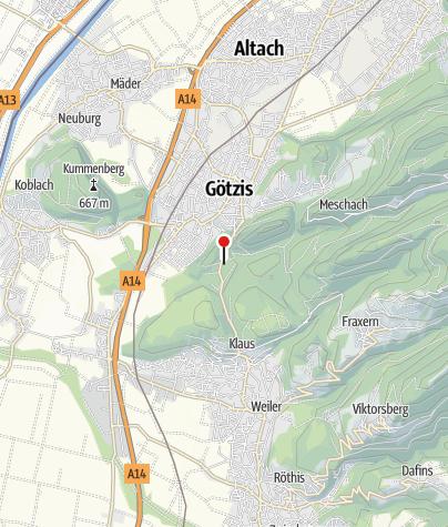 Karte / Götzis, Filialkirche Heiliger Arbogast