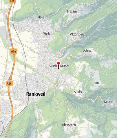 Karte / Zwischenwasser, Pfarrkirche Heiliger Fidelis