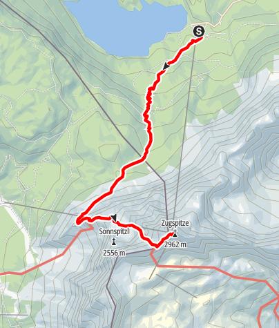 Karte / Über den Stopselzieher auf die Zugspitze