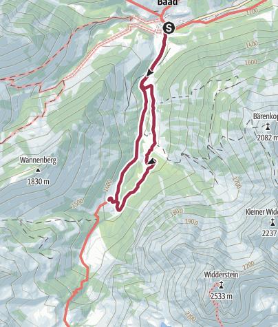 Karte / Rundwanderweg Bärgunttal