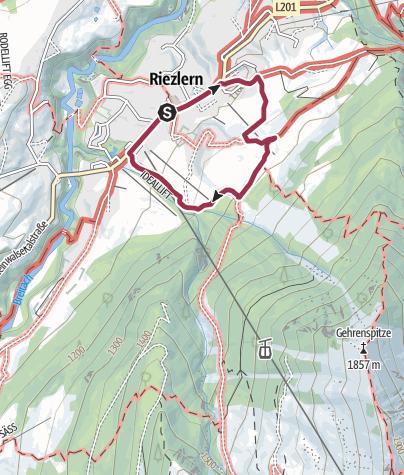 Karte / Der Riezler Höhenweg