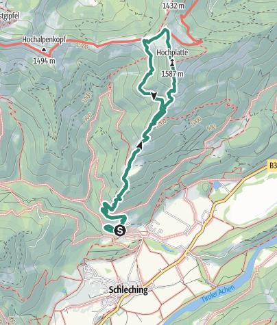 מפה / Vom Achental auf die Hochplatte