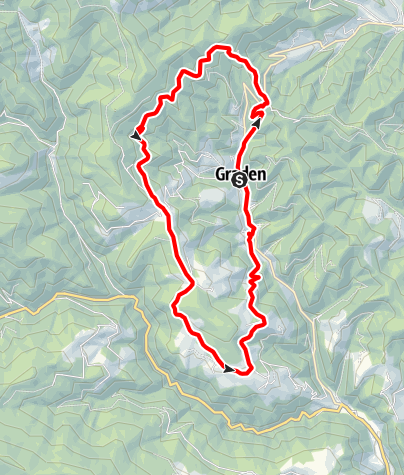 Karte / Kern Buam Panorama Wanderung