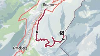 Karte / Von der Kanzelwand ins Kleinwalsertal