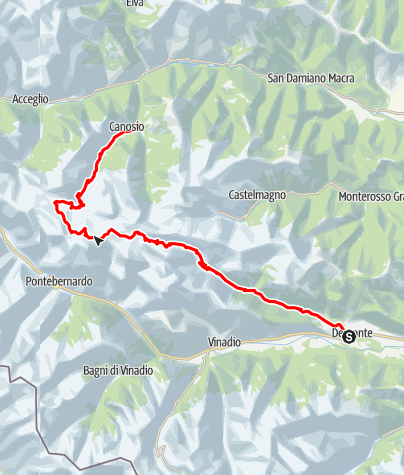 Karte / Maira-Stura-Kammstraße (Italien, 2.200-2.500m)