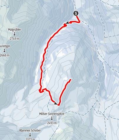 Karte / Eine Schleife auf den Mölser Berg - Wattenberg