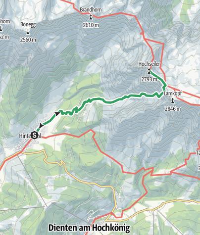 Karte / Teufelslöcher - Klettersteig