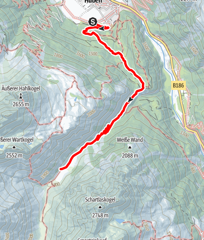 Karte / Polles Alm - Längenfeld/Huben