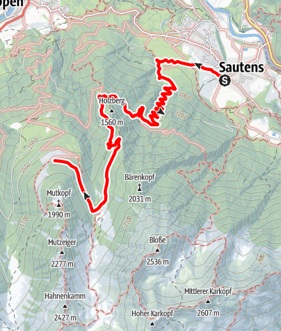 Map / Hikingroute - Maisalm - Sautens