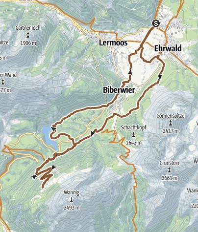 Karte / MTB-Tour zur Nassereither Alm