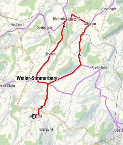Karte / Westallgäuer Radrundfahrt Nr. 5