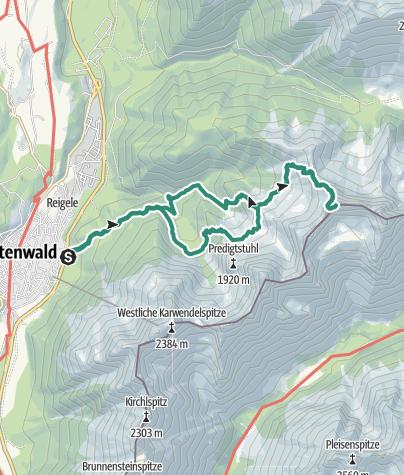 Karte / Wörner - Bergtour für Unerschrockene