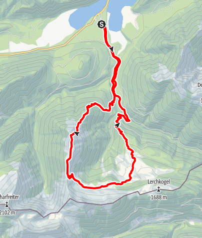 Karte / Kotzen - einsame Karwendelrundtour auf alten Almwegen