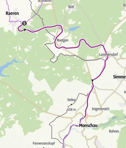 Map / Vennbahn Stage 2 - Raeren-Monschau