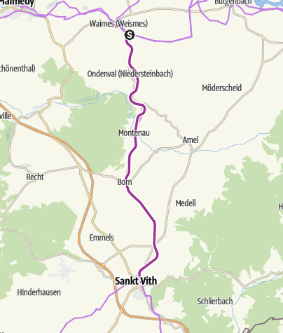 Map / Vennbahn Stage 4 - Waimes-St.Vith